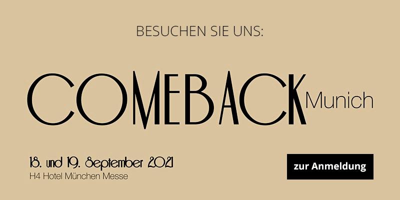 Comeback Munich - 18./19.09.2021 - H4 Hotel München Messe